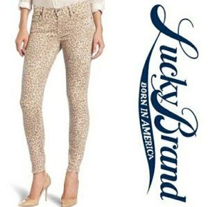 Lucky Brand Legend Sofia leopard ankle skinny jean